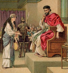 The Daughter of Herodias Requests the Head of John the Baptist